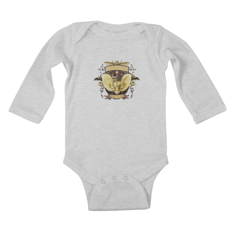 Tea Bats Bat Marty Kids Baby Longsleeve Bodysuit by theatticshoppe's Artist Shop