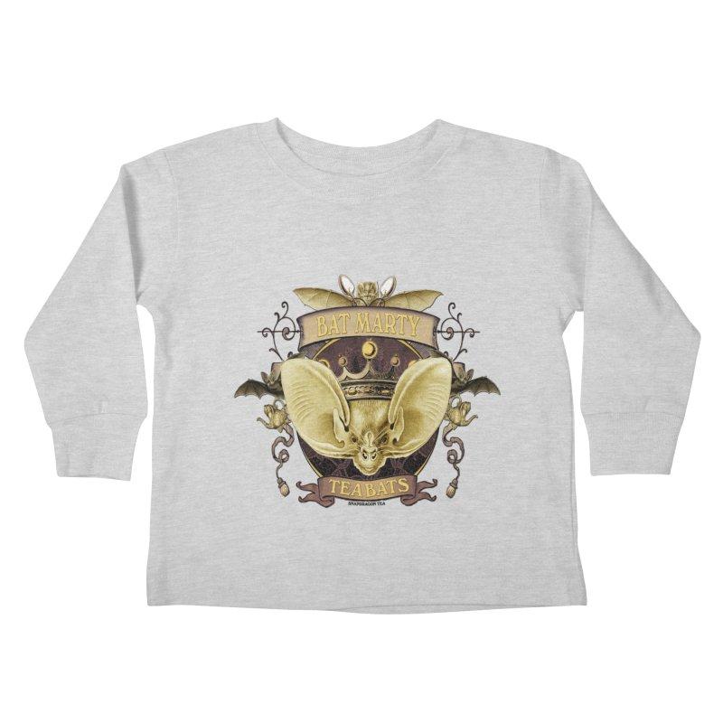 Tea Bats Bat Marty Kids Toddler Longsleeve T-Shirt by theatticshoppe's Artist Shop