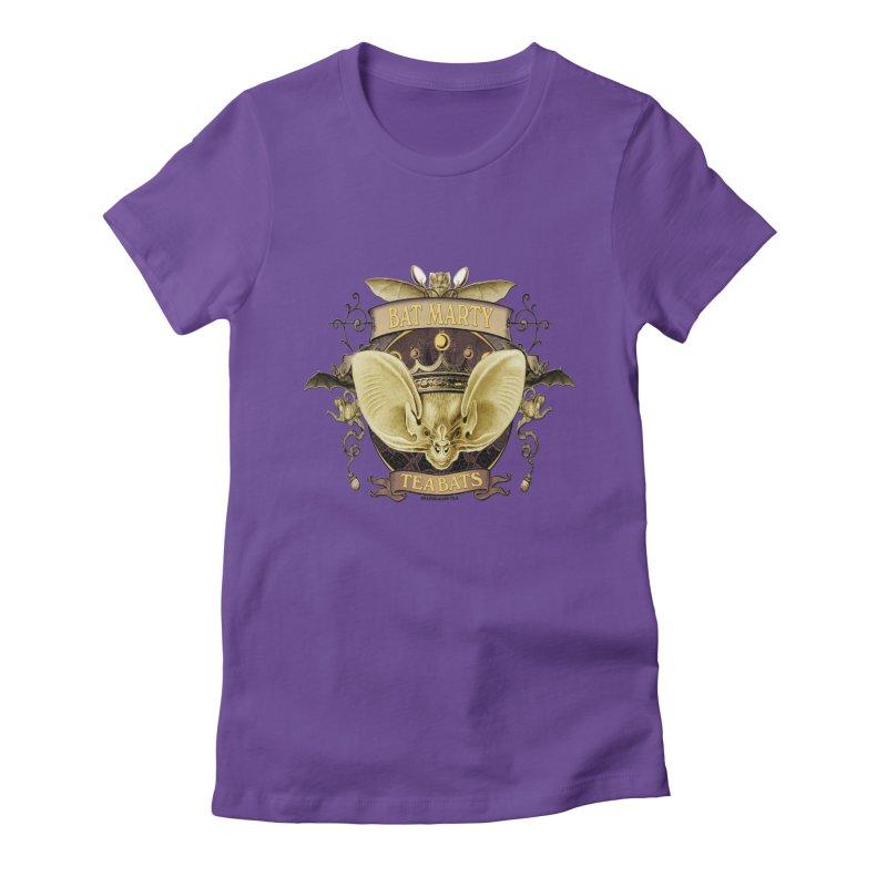 Tea Bats Bat Marty Women's Fitted T-Shirt by theatticshoppe's Artist Shop