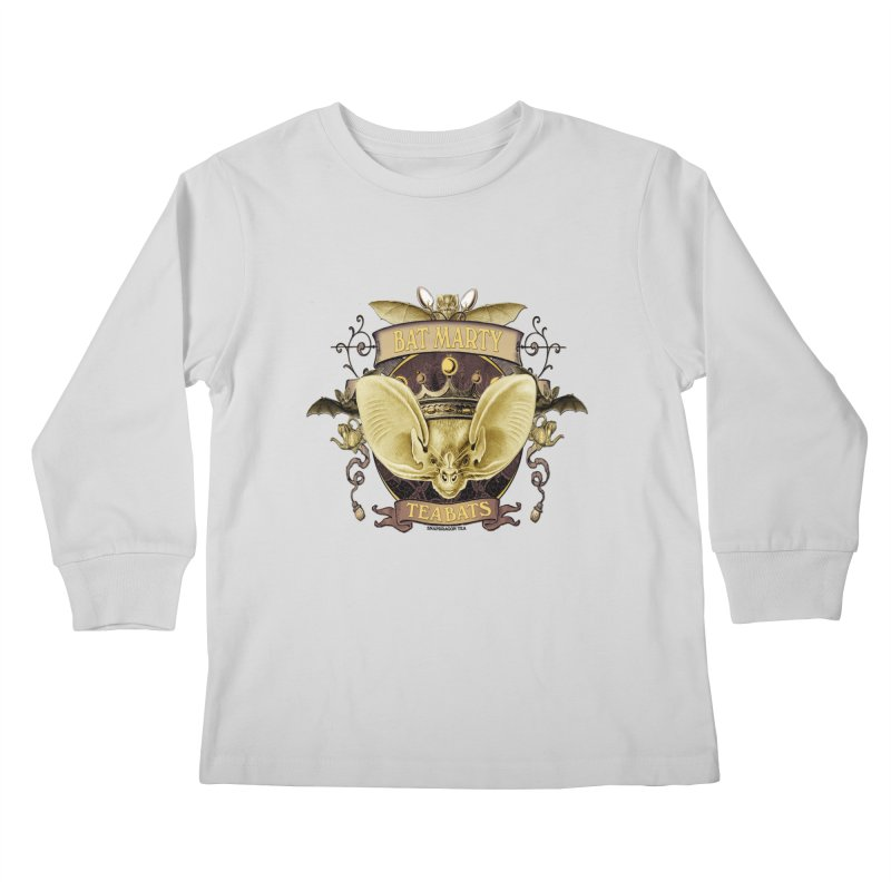 Tea Bats Bat Marty Kids Longsleeve T-Shirt by theatticshoppe's Artist Shop