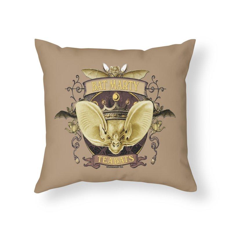 Tea Bats Bat Marty Home Throw Pillow by theatticshoppe's Artist Shop