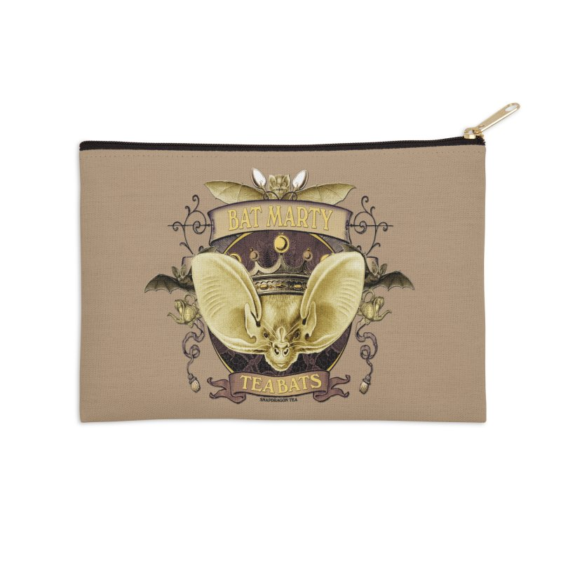 Tea Bats Bat Marty Accessories Zip Pouch by theatticshoppe's Artist Shop