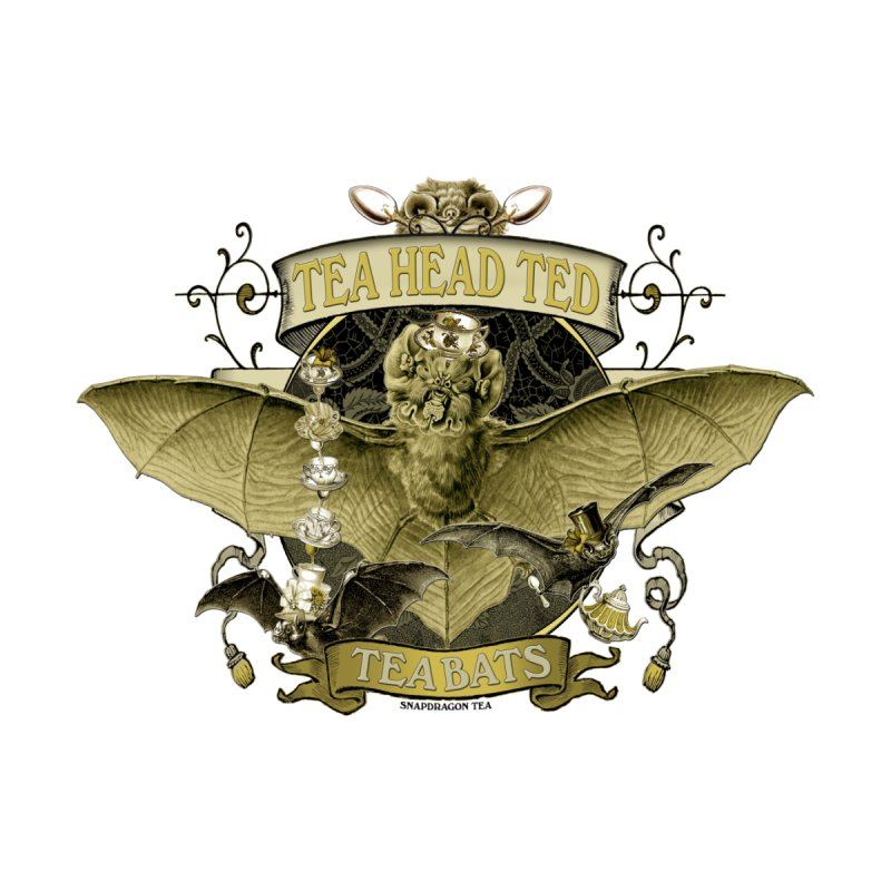 Tea Bats Tea Head Ted None  by theatticshoppe's Artist Shop