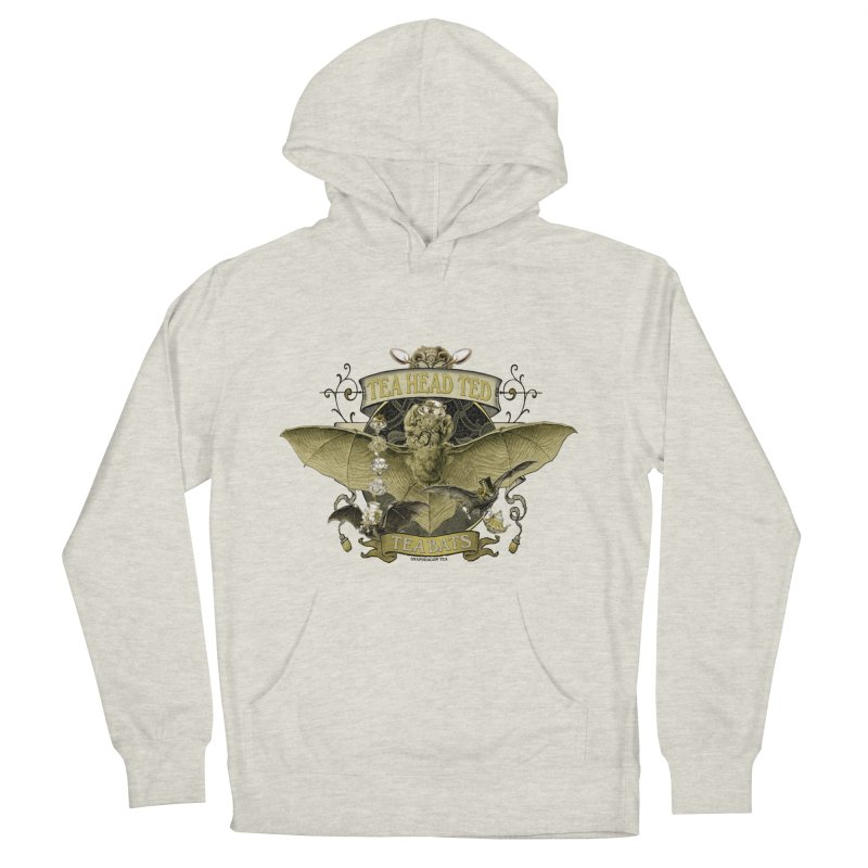 Tea Bats Tea Head Ted Men's French Terry Pullover Hoody by theatticshoppe's Artist Shop