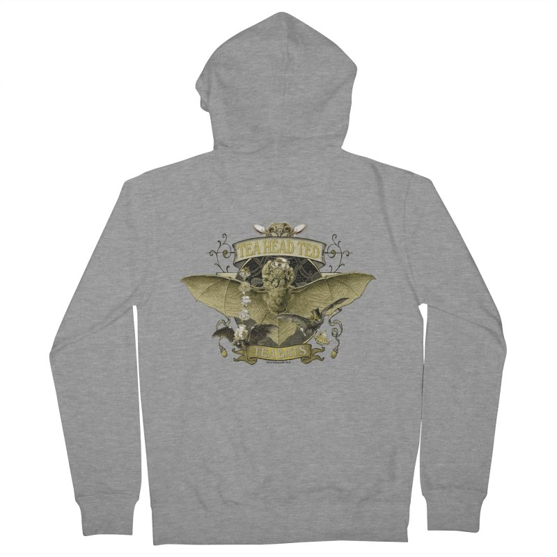 Tea Bats Tea Head Ted Women's Zip-Up Hoody by theatticshoppe's Artist Shop