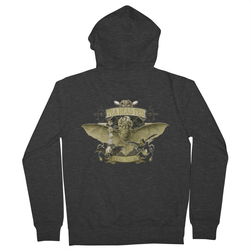 Tea Bats Tea Head Ted Men's Zip-Up Hoody by theatticshoppe's Artist Shop