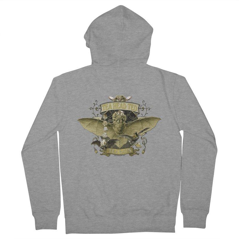 Tea Bats Tea Head Ted Men's Zip-Up Hoody by theatticshoppe's Artist Shop