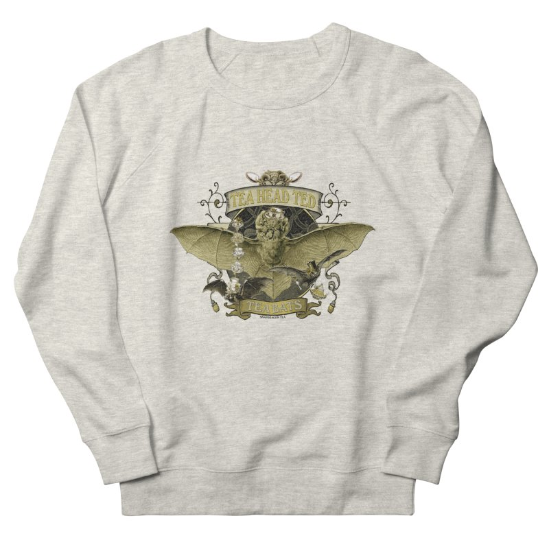 Tea Bats Tea Head Ted Men's French Terry Sweatshirt by theatticshoppe's Artist Shop