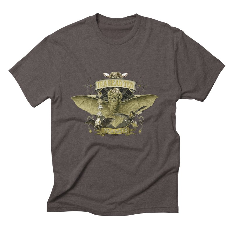 Tea Bats Tea Head Ted Men's Triblend T-Shirt by theatticshoppe's Artist Shop
