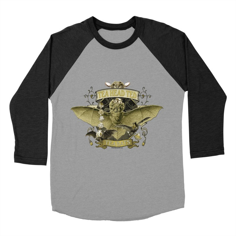Tea Bats Tea Head Ted Men's Baseball Triblend Longsleeve T-Shirt by theatticshoppe's Artist Shop