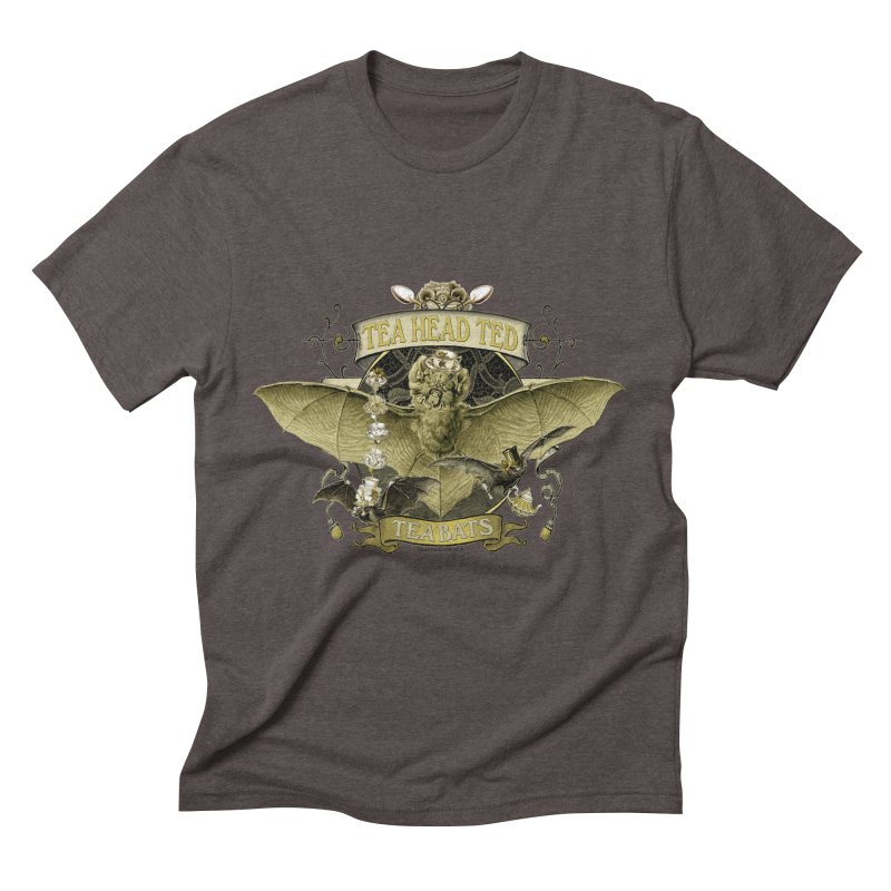 Tea Bats Tea Head Ted Men's Triblend T-shirt by theatticshoppe's Artist Shop
