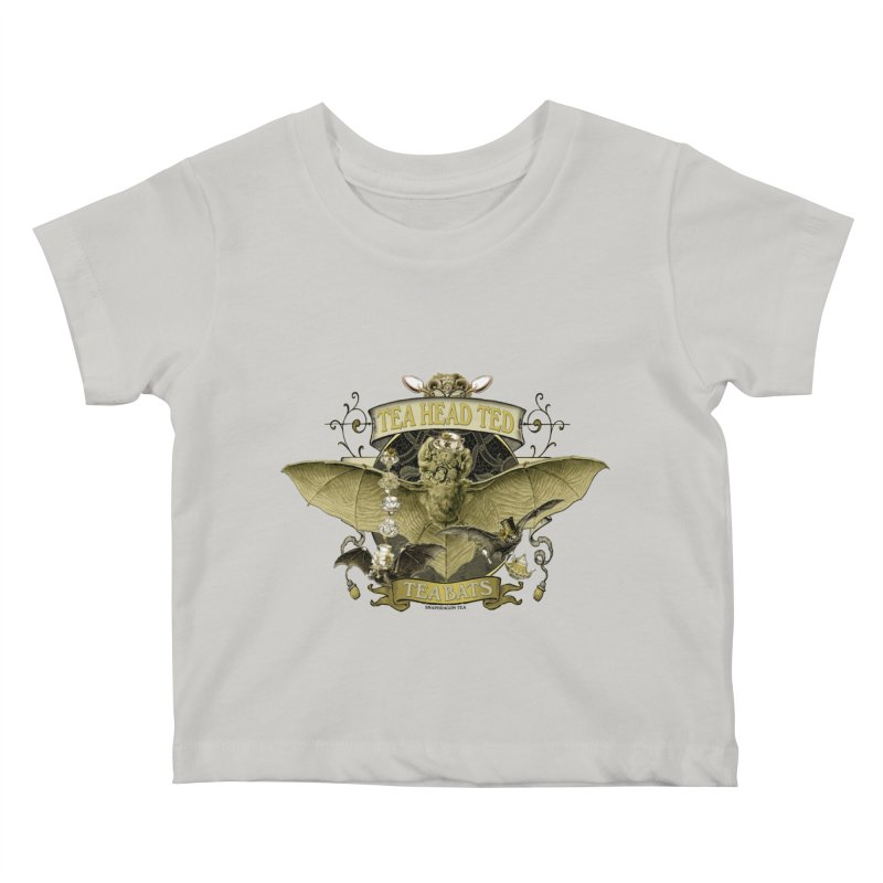 Tea Bats Tea Head Ted Kids Baby T-Shirt by theatticshoppe's Artist Shop