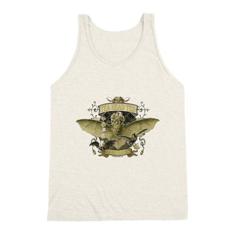 Tea Bats Tea Head Ted Men's Triblend Tank by theatticshoppe's Artist Shop