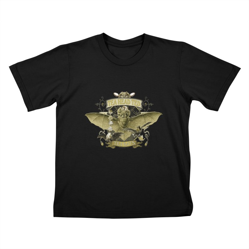Tea Bats Tea Head Ted Kids T-Shirt by theatticshoppe's Artist Shop