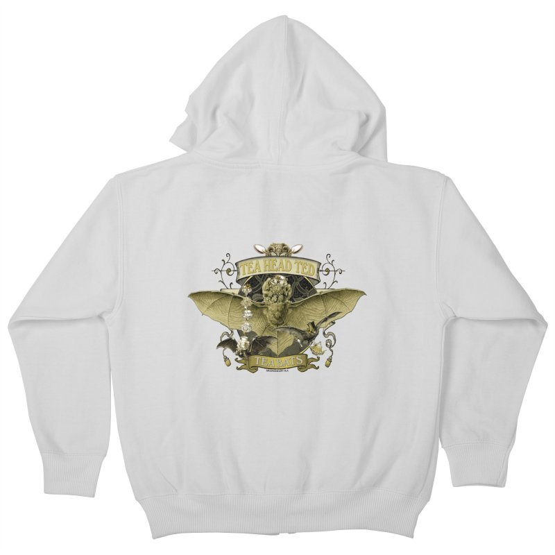 Tea Bats Tea Head Ted Kids Zip-Up Hoody by theatticshoppe's Artist Shop