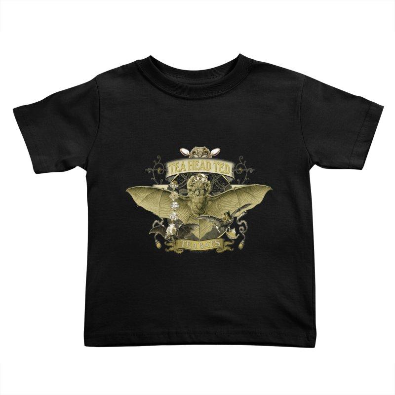 Tea Bats Tea Head Ted Kids Toddler T-Shirt by theatticshoppe's Artist Shop