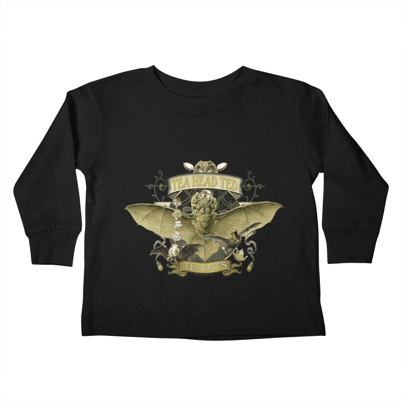 Tea Bats Tea Head Ted Kids Toddler Longsleeve T-Shirt by theatticshoppe's Artist Shop