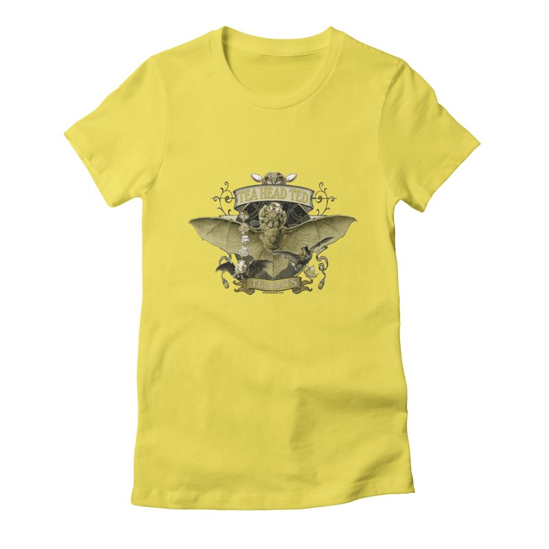 Tea Bats Tea Head Ted Women's T-Shirt by theatticshoppe's Artist Shop