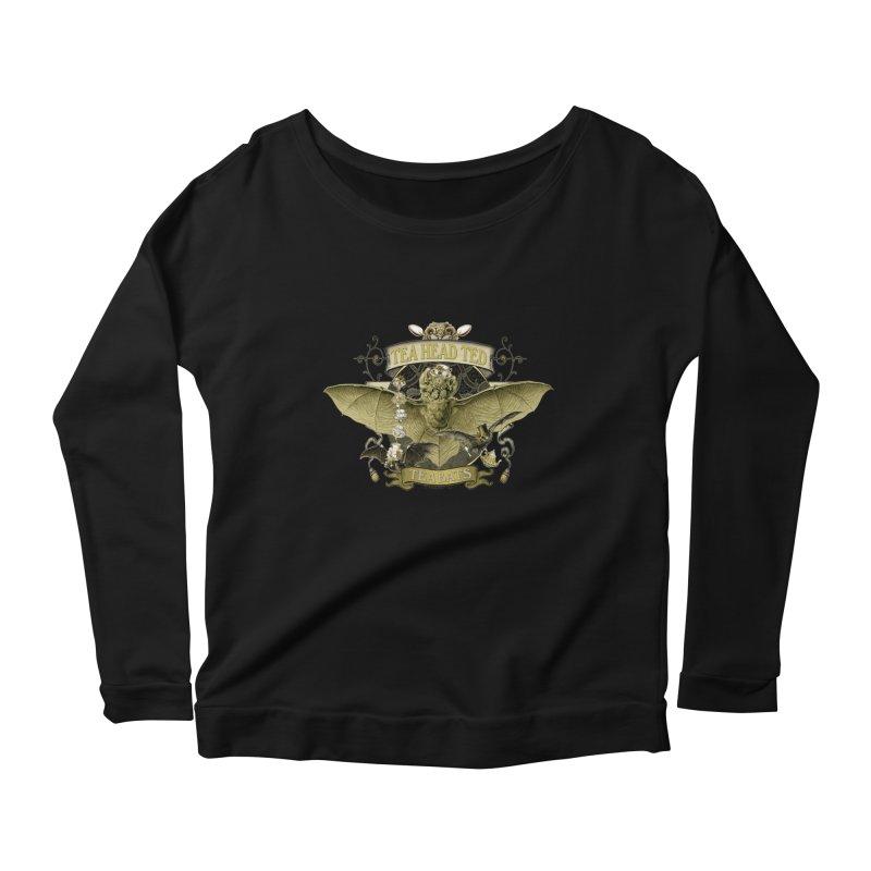 Tea Bats Tea Head Ted Women's Scoop Neck Longsleeve T-Shirt by theatticshoppe's Artist Shop