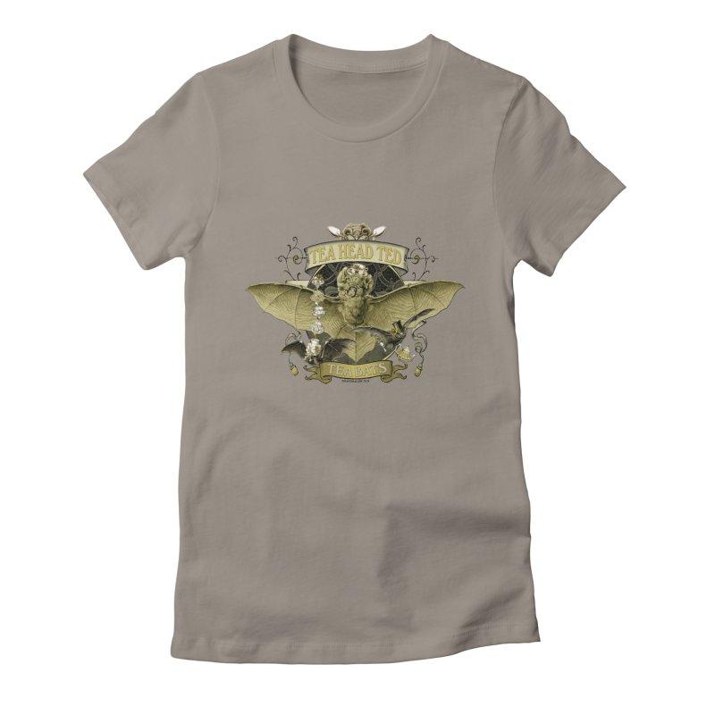 Tea Bats Tea Head Ted Women's Fitted T-Shirt by theatticshoppe's Artist Shop