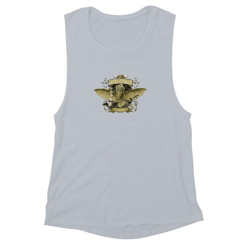 Tea Bats Tea Head Ted Women's Muscle Tank by theatticshoppe's Artist Shop
