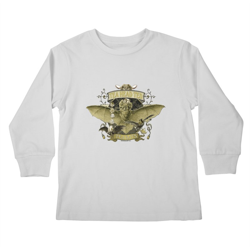 Tea Bats Tea Head Ted Kids Longsleeve T-Shirt by theatticshoppe's Artist Shop
