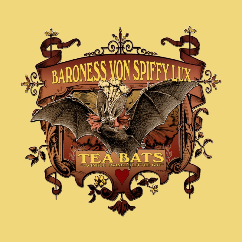 Tea Bats Baroness Von Spiffy Lux Accessories Bag by theatticshoppe's Artist Shop