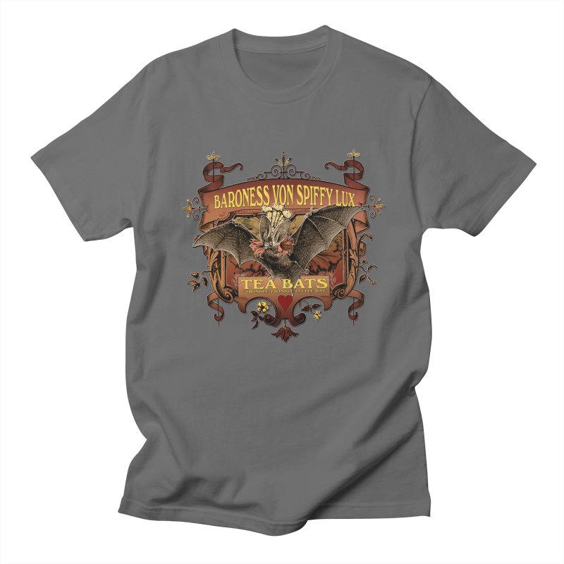 Tea Bats Baroness Von Spiffy Lux Men's T-Shirt by theatticshoppe's Artist Shop