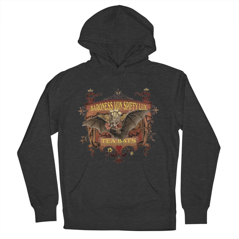 Tea Bats Baroness Von Spiffy Lux Women's French Terry Pullover Hoody by theatticshoppe's Artist Shop