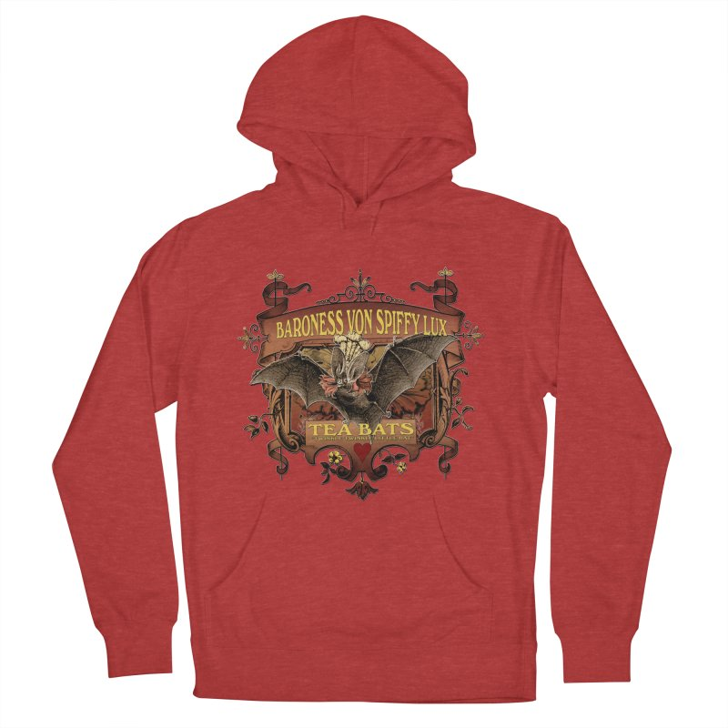 Tea Bats Baroness Von Spiffy Lux Men's French Terry Pullover Hoody by theatticshoppe's Artist Shop