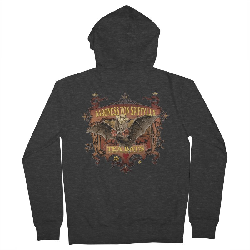 Tea Bats Baroness Von Spiffy Lux Men's Zip-Up Hoody by theatticshoppe's Artist Shop