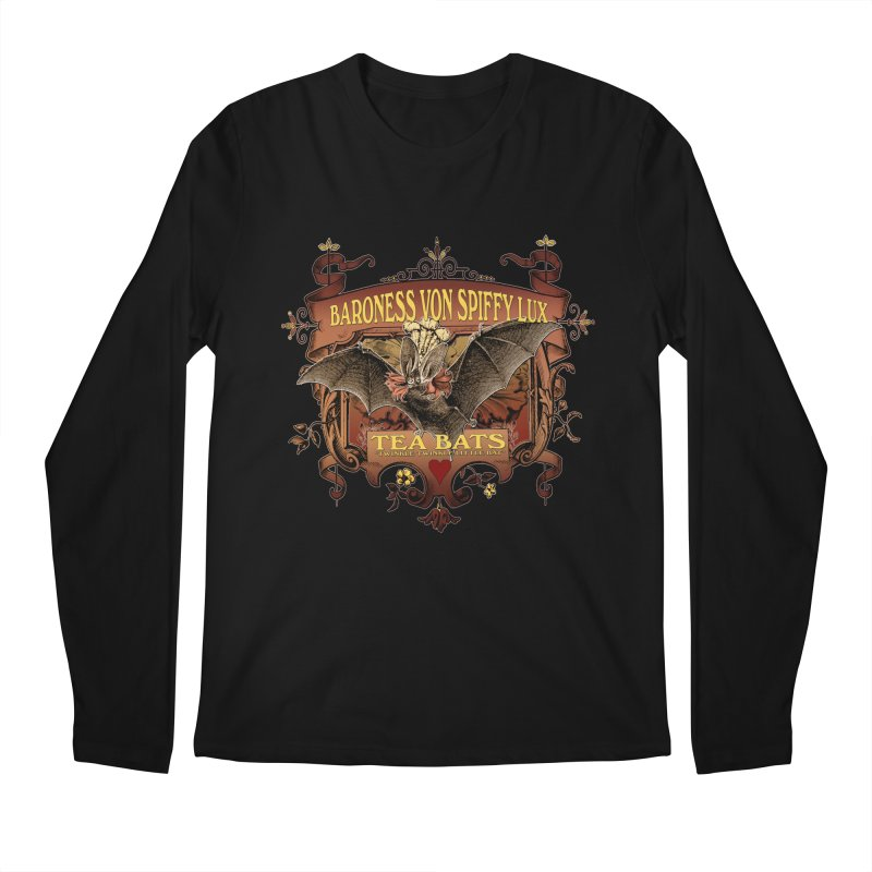 Tea Bats Baroness Von Spiffy Lux Men's Regular Longsleeve T-Shirt by theatticshoppe's Artist Shop