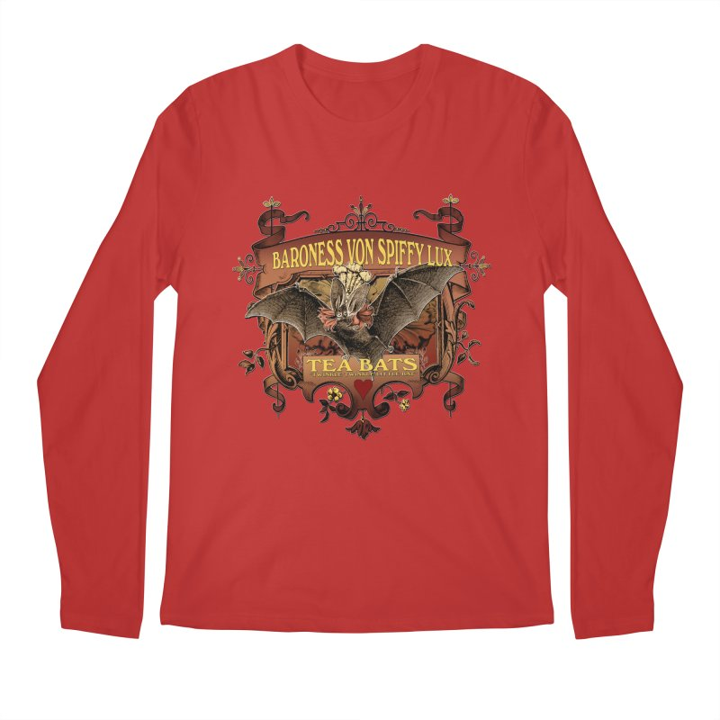Tea Bats Baroness Von Spiffy Lux Men's Longsleeve T-Shirt by theatticshoppe's Artist Shop