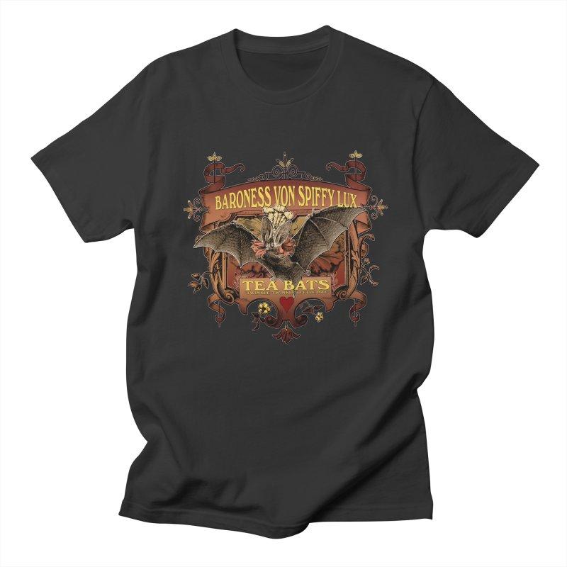 Tea Bats Baroness Von Spiffy Lux Men's T-shirt by theatticshoppe's Artist Shop