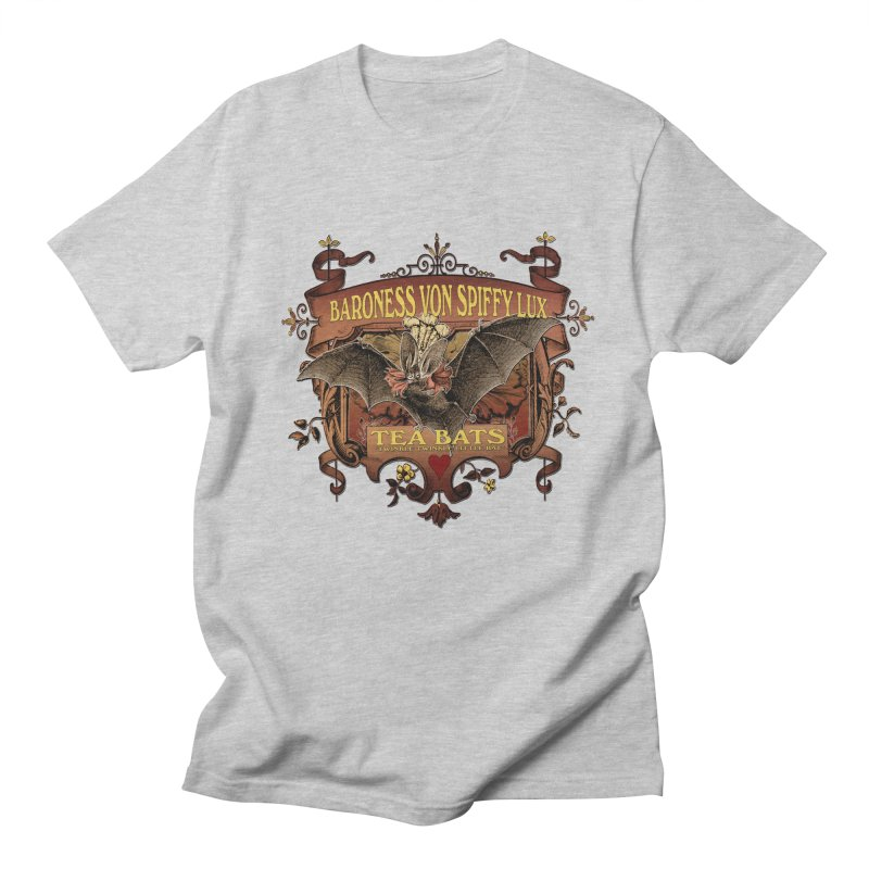 Tea Bats Baroness Von Spiffy Lux Men's Regular T-Shirt by theatticshoppe's Artist Shop
