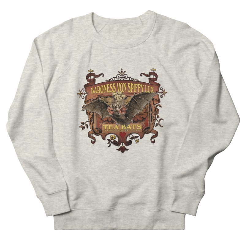 Tea Bats Baroness Von Spiffy Lux Men's French Terry Sweatshirt by theatticshoppe's Artist Shop
