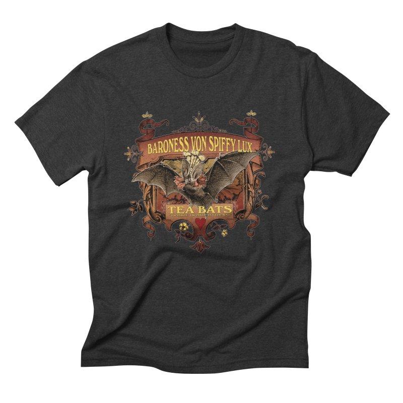 Tea Bats Baroness Von Spiffy Lux Men's Triblend T-Shirt by theatticshoppe's Artist Shop