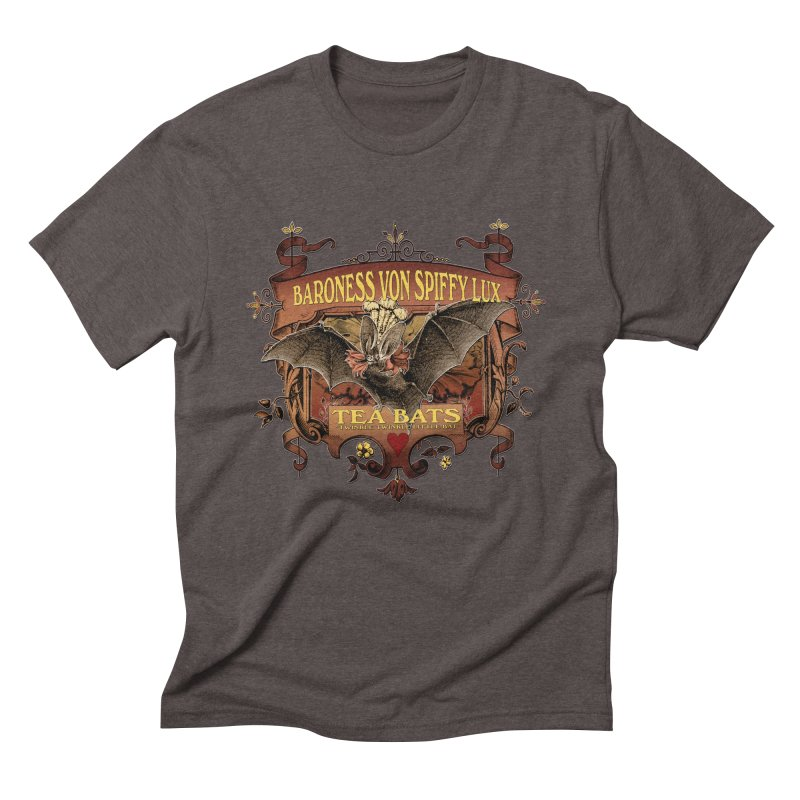 Tea Bats Baroness Von Spiffy Lux Men's Triblend T-Shirt by theatticshoppe's Artist Shop