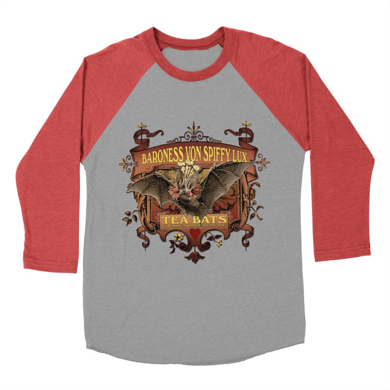 Tea Bats Baroness Von Spiffy Lux Women's Baseball Triblend Longsleeve T-Shirt by theatticshoppe's Artist Shop