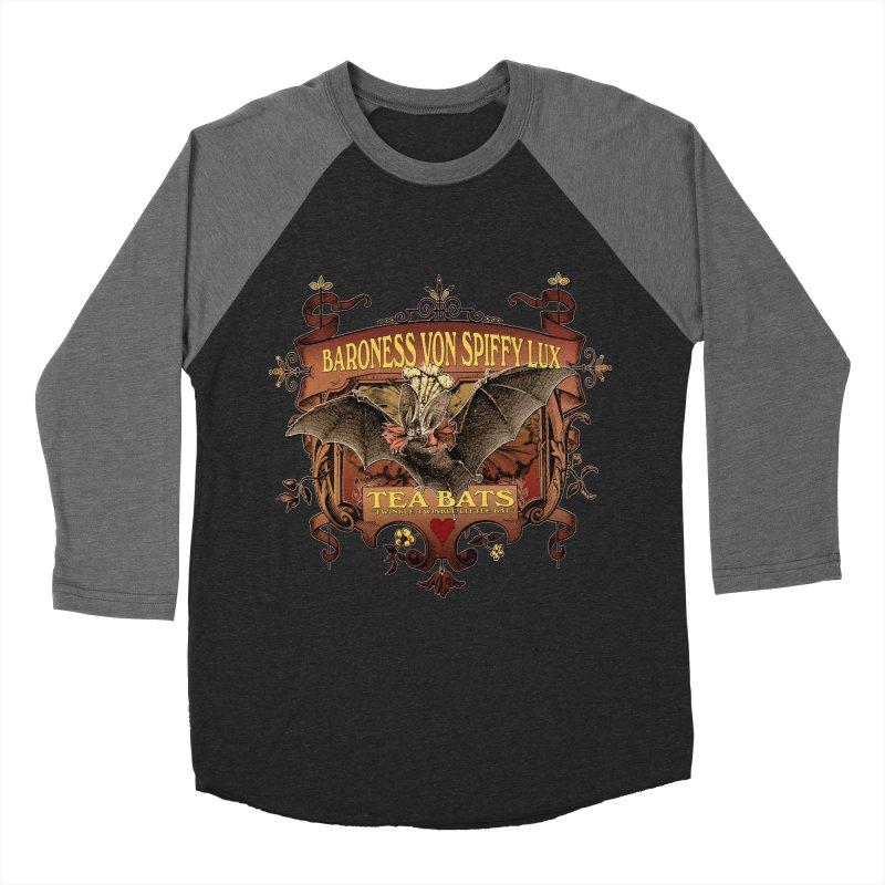 Tea Bats Baroness Von Spiffy Lux Men's Baseball Triblend T-Shirt by theatticshoppe's Artist Shop