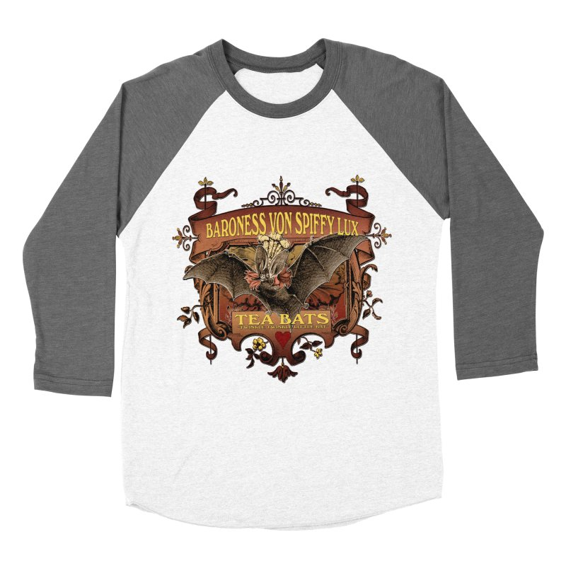 Tea Bats Baroness Von Spiffy Lux Men's Baseball Triblend Longsleeve T-Shirt by theatticshoppe's Artist Shop