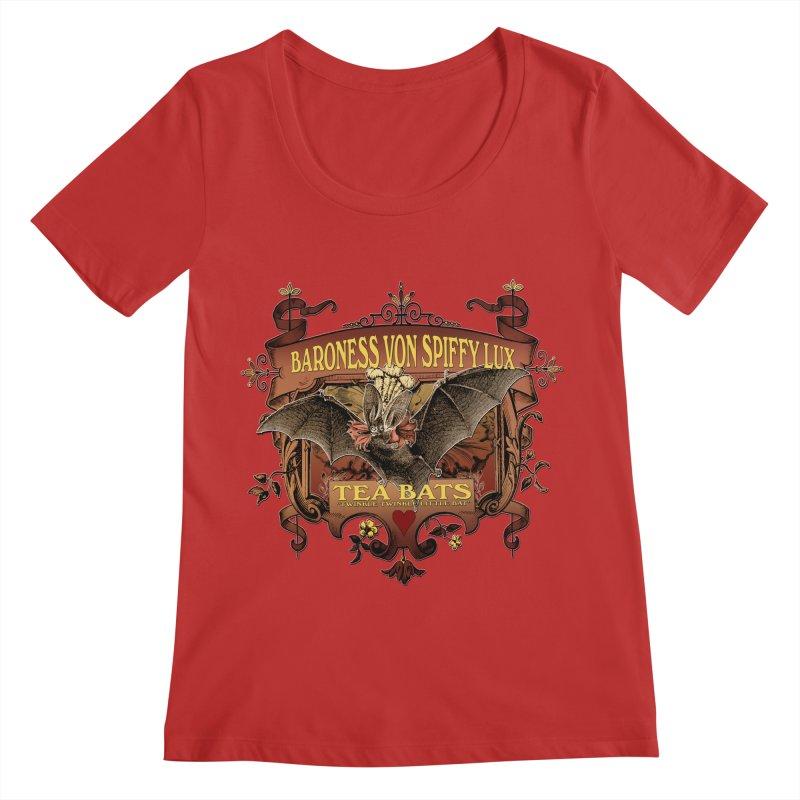 Tea Bats Baroness Von Spiffy Lux Women's Regular Scoop Neck by theatticshoppe's Artist Shop
