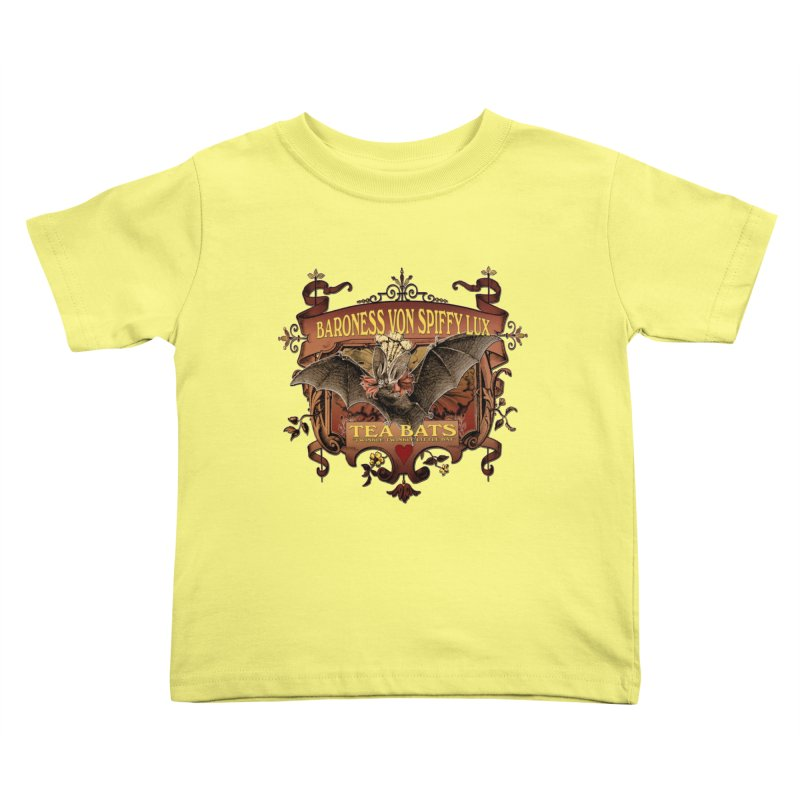 Tea Bats Baroness Von Spiffy Lux Kids Toddler T-Shirt by theatticshoppe's Artist Shop