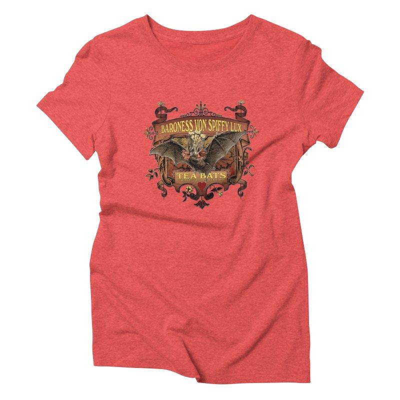 Tea Bats Baroness Von Spiffy Lux Women's T-Shirt by theatticshoppe's Artist Shop