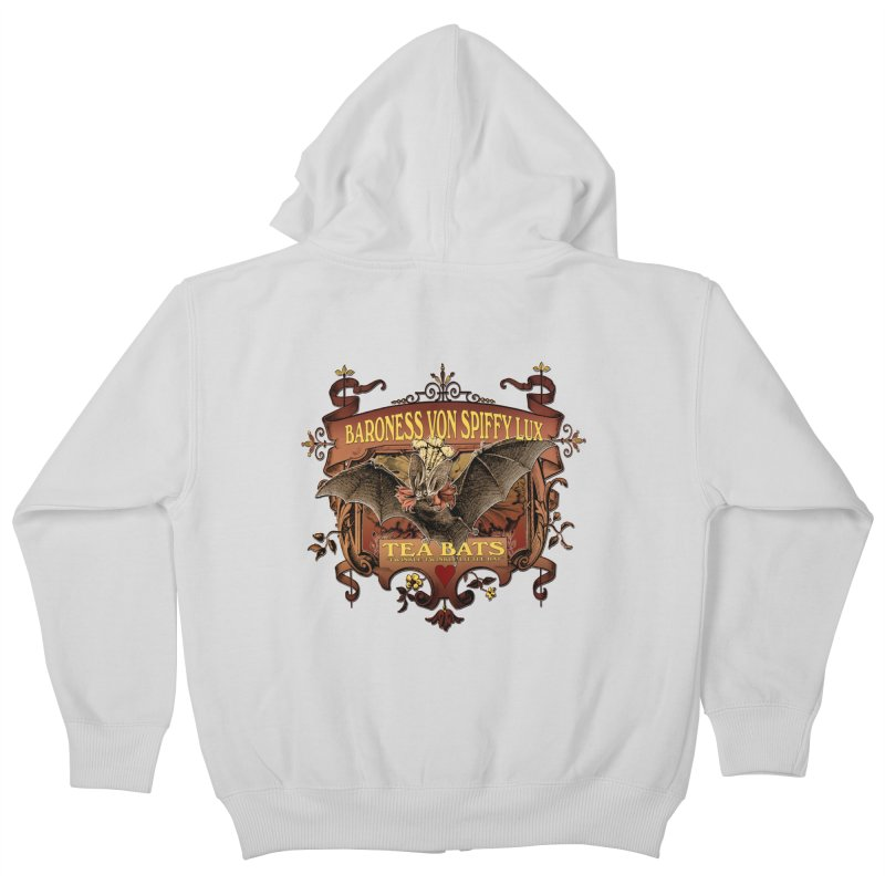 Tea Bats Baroness Von Spiffy Lux Kids Zip-Up Hoody by theatticshoppe's Artist Shop