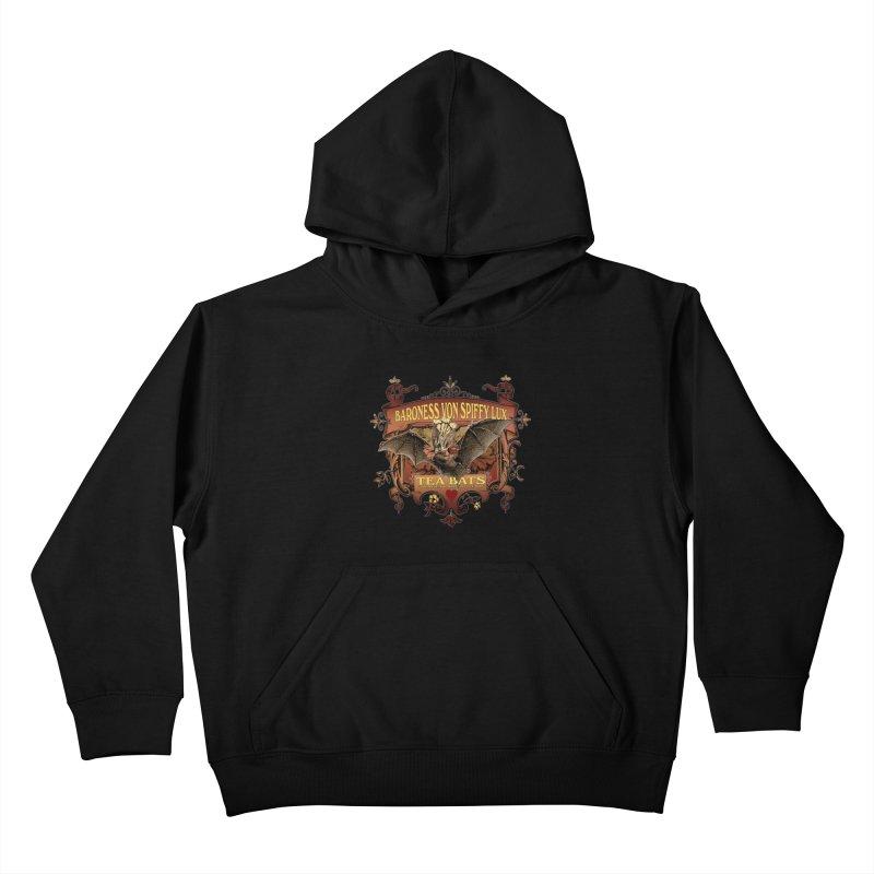 Tea Bats Baroness Von Spiffy Lux Kids Pullover Hoody by theatticshoppe's Artist Shop