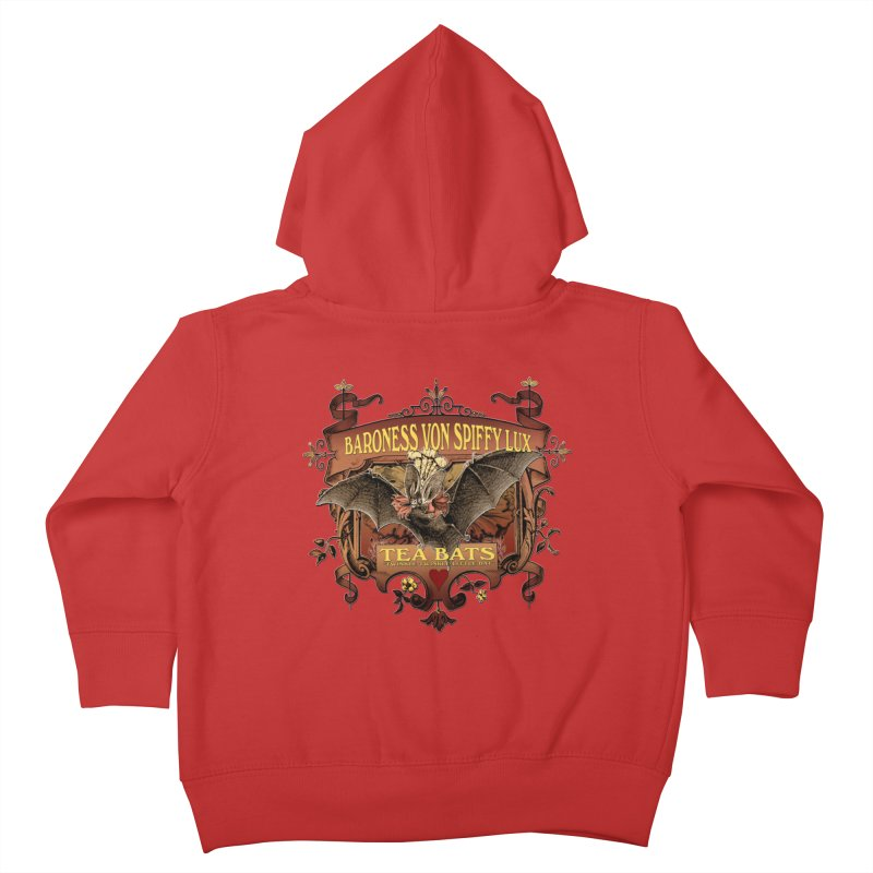 Tea Bats Baroness Von Spiffy Lux Kids Toddler Zip-Up Hoody by theatticshoppe's Artist Shop