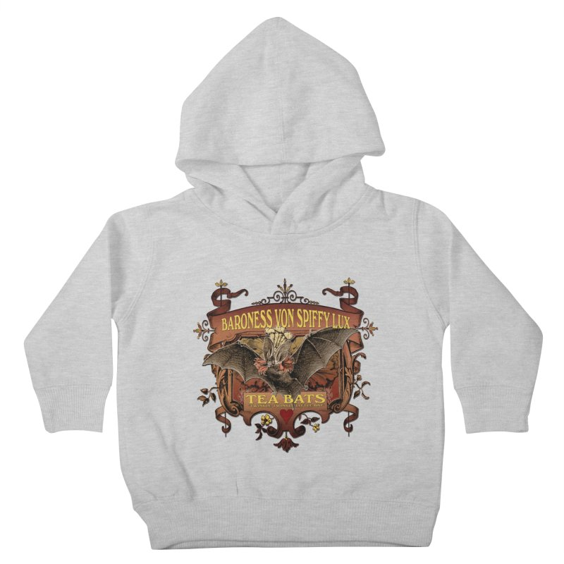 Tea Bats Baroness Von Spiffy Lux Kids Toddler Pullover Hoody by theatticshoppe's Artist Shop