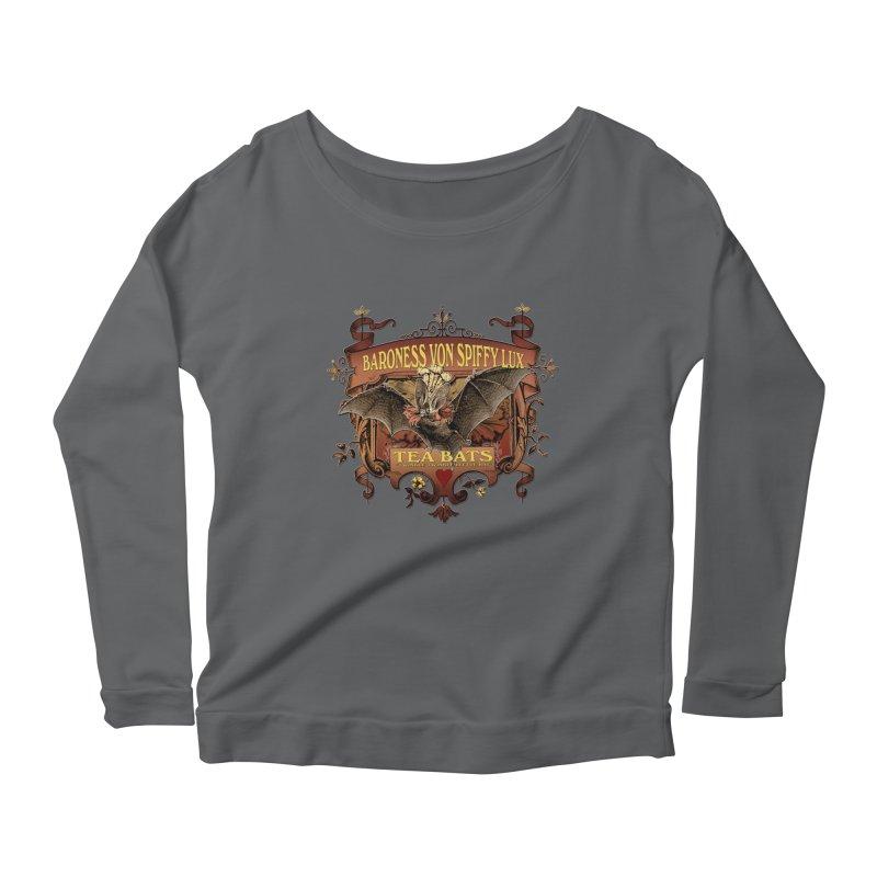 Tea Bats Baroness Von Spiffy Lux Women's Scoop Neck Longsleeve T-Shirt by theatticshoppe's Artist Shop