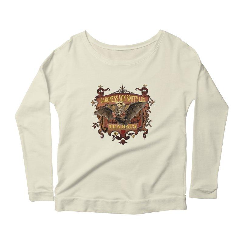 Tea Bats Baroness Von Spiffy Lux Women's Longsleeve Scoopneck  by theatticshoppe's Artist Shop